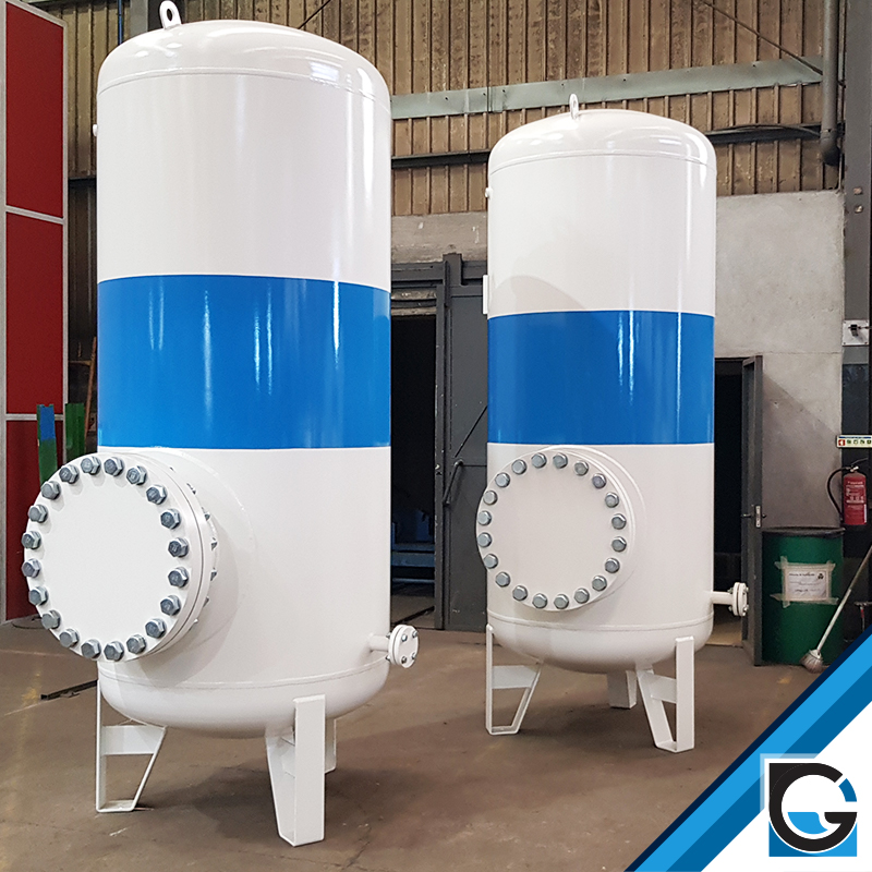 Pressurized Tanks for O2 with Standard Measures