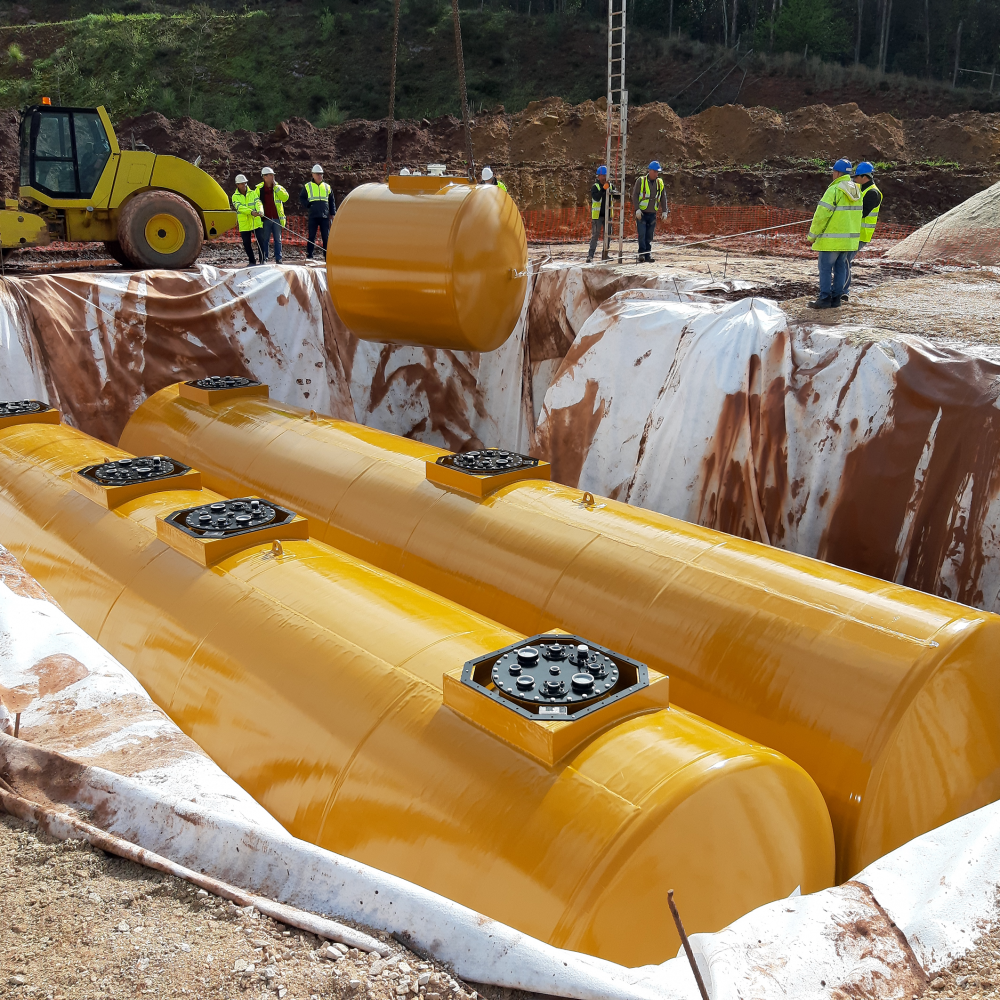 Reservatórios Subterrâneos para Combustível aço