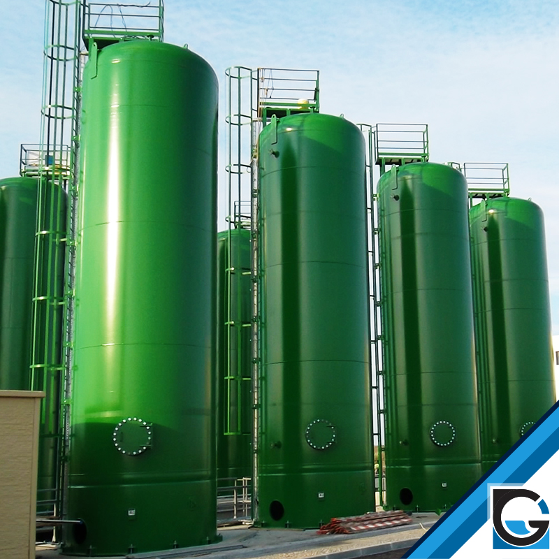 Hydropneumatic tanks without membrane